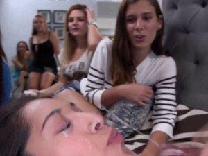 Real cfnm teens get cumshot facials. Real cfnm teens get cumshot facials at blowjob party