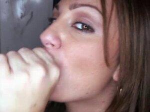 Blowjob gloryhole slut gets facialized. Blowjob gloryhole slut gets facialized by multiple gloryhole dick